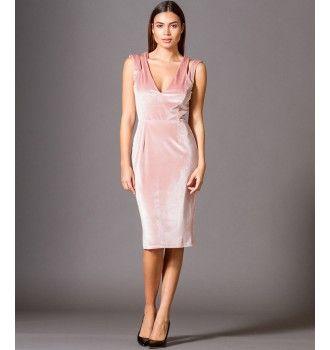 a52f17ecd809 Βελούδινο Μίνι Φόρεμα με Έξω Ώμους - Μake up
