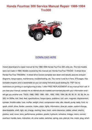 42 Honda Trx 500 Service Manual Free Download Qs1q Di 2020 Trx Honda