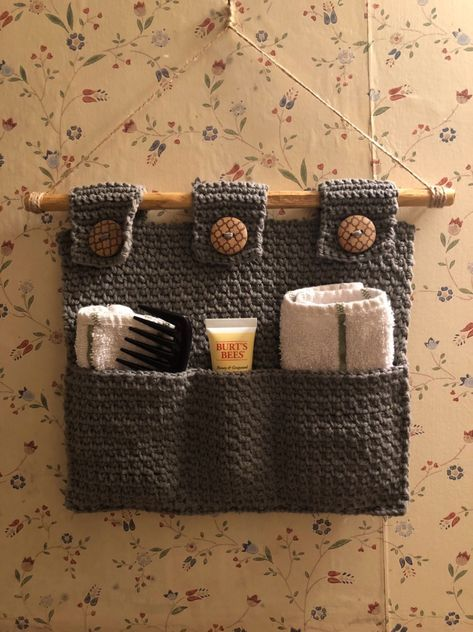 Some Extra Hanging Storage For The Bathroom Diy Crochet Projects