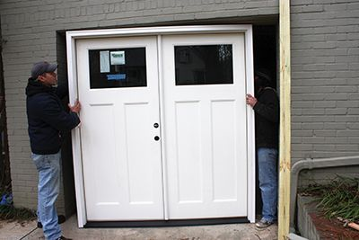 For This Project We Were Able To Position The New Door And Build The Rough Openi In 2020 Garage Doors Garage Renovation Garage Door Replacement