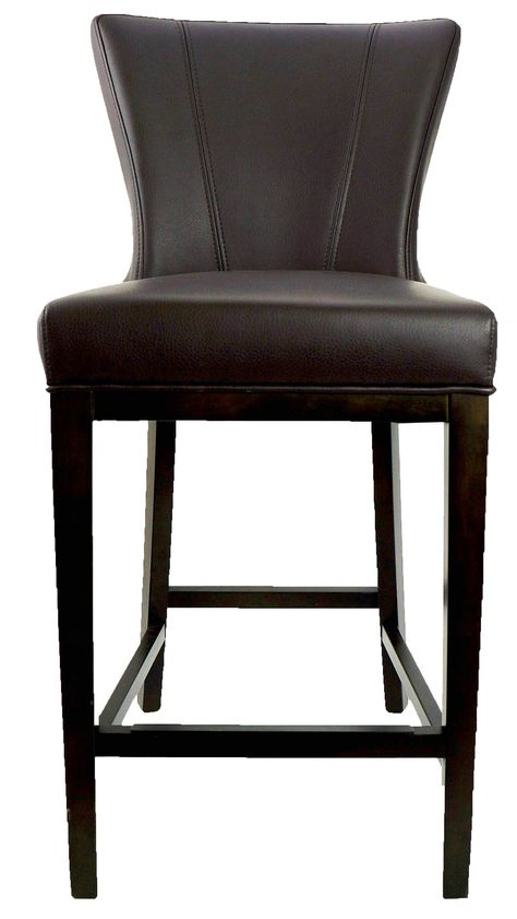 Restaurant Chairs/BarStools :: Leather Counter Stool with Back in Brown R-1216 - ARTeFAC USA