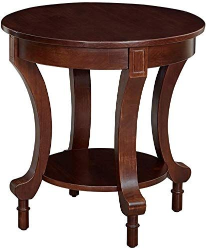 New Ravenna Home Traditional Solid Pine End Table 24 W Espresso