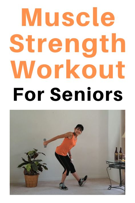 Senior Free Weight Exercise - - Pick up your weights and challenge yourself with these senior muscle strengthening exercises to ward off atrophy and osteoporosis. Exercise Fitness, Fitness Workout For Women, Healthy Exercise, Health And Fitness Tips, Excercise, Fitness Exercises, Exercise Motivation, Fitness Home, Fitness Diet