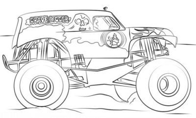 Charming Coloring Page Monster Truck Free 45 For Children With Coloring Page Monster T In 2020 Monster Truck Coloring Pages Truck Coloring Pages Monster Truck Birthday