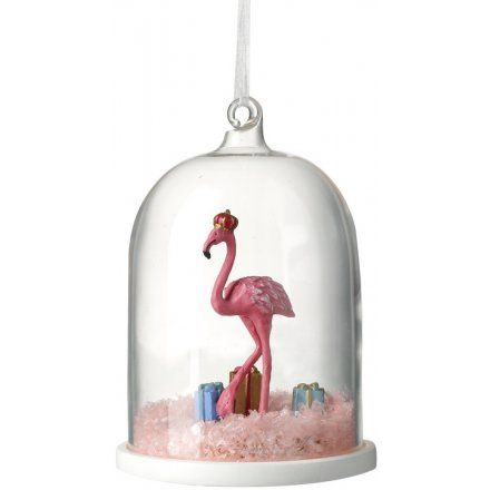 The Leonardo Collection Pink Flamingo LED Snowglobe Water Ball with Gift Box