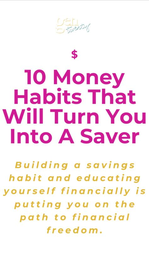 10 Money Habits To Become a Money Saver