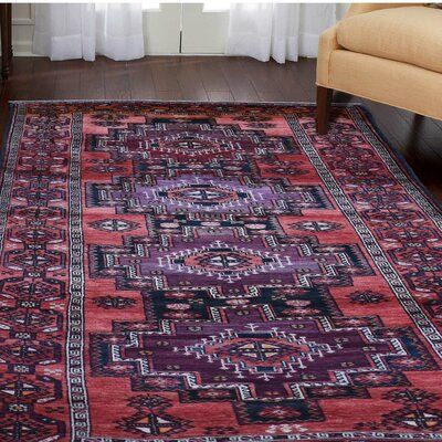 Isabelline One Of A Kind Pettus Hand Knotted Red 5 X 10 Area Rug Rugs Area Rugs Red Area Rug 5 x 10 area rugs