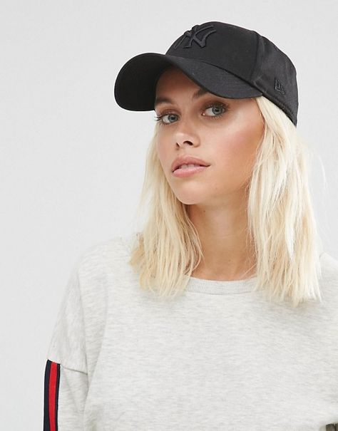 New+Era+Perforated+Leather+Look+Cap+in+White | 運動風 Sporty | Pinterest |  Cap, Leather and Cheap fashion