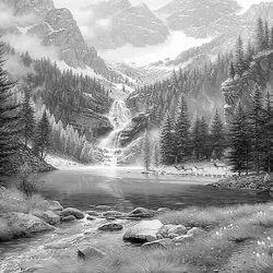 Forest Landscape Coloring Pages Landscape Sketch Landscape Drawings Landscape Pencil Drawings