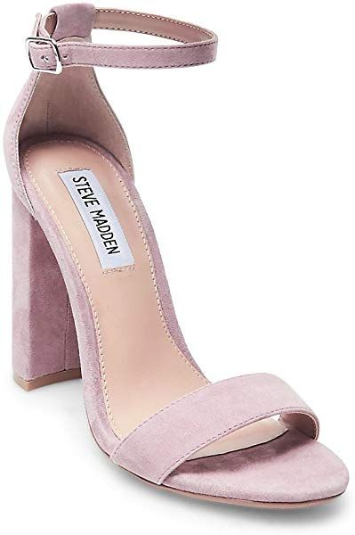 a7d0457ac38 Amazon.com | Steve Madden Women's Carrson Heeled Sandal, Mauve Suede ...