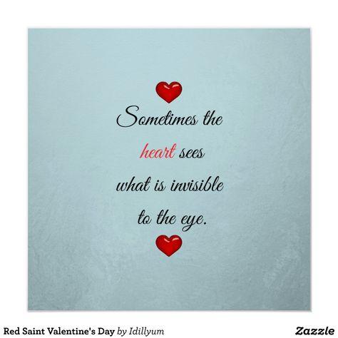Póster Saint El día de San Valentín Rojo | Zazzle.com
