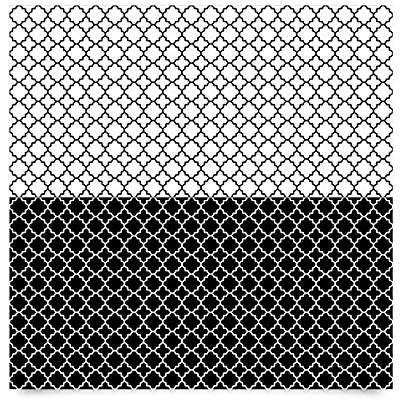 Carta Adesiva per Mobili - Moroccan tiles quatrefoil pattern ...