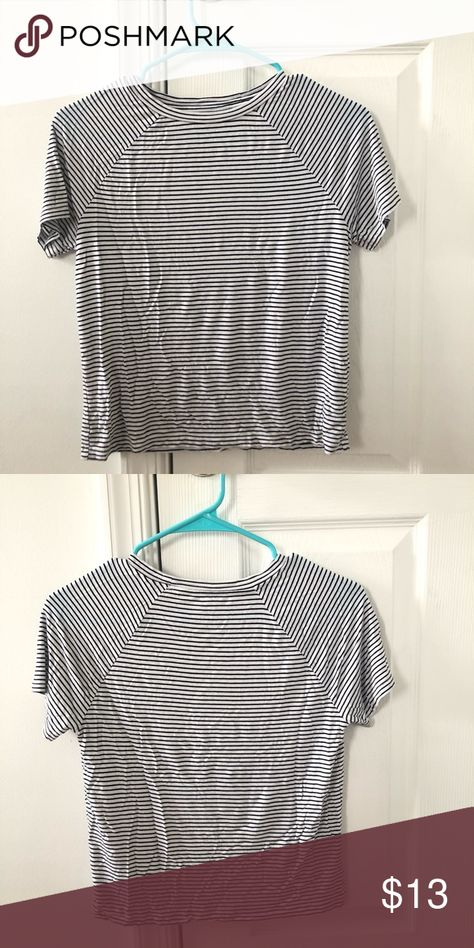 American eagle tee Soft and sexy collection, black and white stripes, great condition! American Eagle Outfitters Tops Tees - Short Sleeve