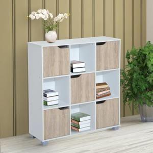 Bibliotheque Bibliotheque Meuble De Rangement Bicolore 4 Casier Meuble Rangement Casier Rangement Meuble Casier