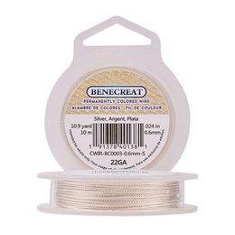 BENECREAT 22 Gauge Twist Copper Wire Tarnish Resistant Jewelry Making Wire 33-Feet//11-Yard in Total