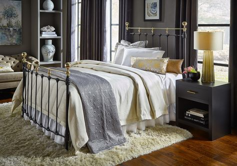 You Can Design Your Own Bed Finish Height Of Frame Arched Or Bow Foot Choice Of 50 Finishes Choice Of Finials Etc With Images Bed Brass Bed Iron Bed