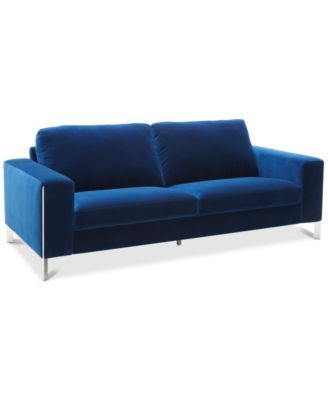 Pleasant Cipolia 85 Fabric Sofa With Metal Inlays Created For Machost Co Dining Chair Design Ideas Machostcouk