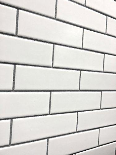 2x6 Matte Finish White Brick Ceramic Mosaic Tile Walls An Https Www Dp B06x Ceramic Mosaic Tile White Brick Backsplash Brick Backsplash Kitchen