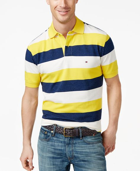 8cdee1272af Tommy Hilfiger Nick Striped Classic-Fit Polo
