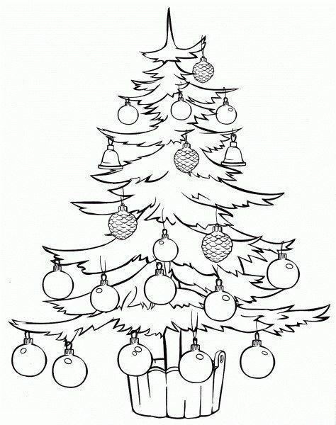 Pinos De Navidad Para Colorear Pinos De Navidad Decoracion De Pinos De Navidad Como Decorar Un P Tree Coloring Page Tree Line Drawing Christmas Tree Clipart