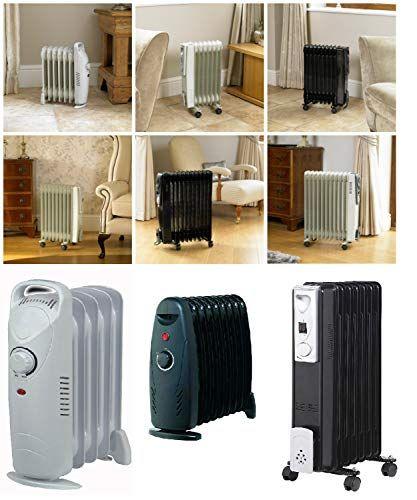 Homezone Oil Filled Heaters Electic Radiators 500w 700w 1000w 1500w 2000w 2500w 5 7 9 11 Fin Radiators Personal Space Warmers Adjustable Thermostats Shut Off S Radiators Safety Switch Heater