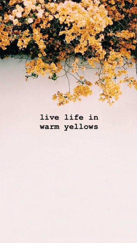 Live life in warm yellows!  | #inspirationalquotes #motivationalquotes #girlboss