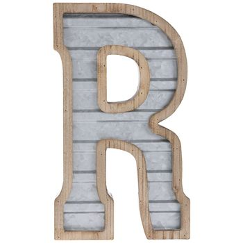 Galvanized Metal Letter Wall Decor R In 2020 Metal Wall Letters Metal Letters Galvanized Metal