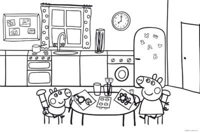 Dibujos Para Imprimir De Peppa Pig Cocina Imagenes De Munecas