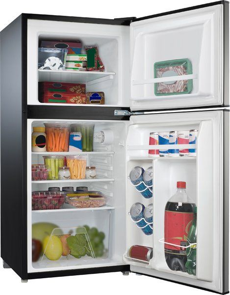 4 0 Cu Ft Compact Mini Refrigerator With Freezer Refrigerator Organization Fridge Organization Mini Fridge With Freezer