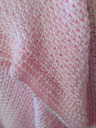 One Skein Baby Blanket Free Crochet Afghan Patterns Soft Pink