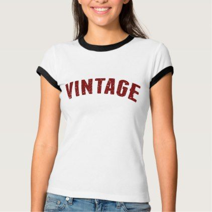 Vintage Lettering T Shirt Typography Gifts Unique Custom Diy