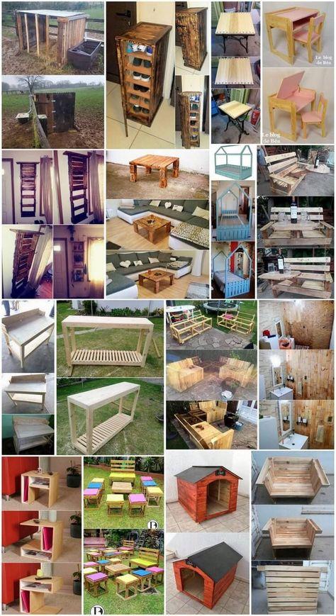 Low Cost Wood Pallets Reusing Ideas | pallets | Legno