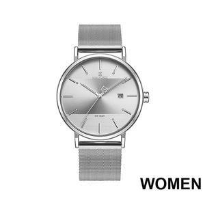 Luxury Quartz Watches Women Steel Waterproof Casual Date Couple Clock Wrist Watch