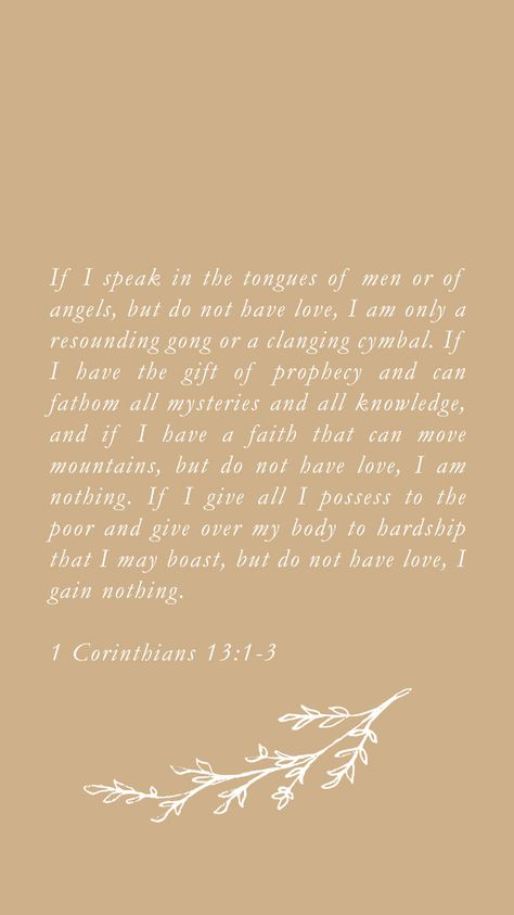 1 Corinthians 13 phone wallpaper, scripture memorization