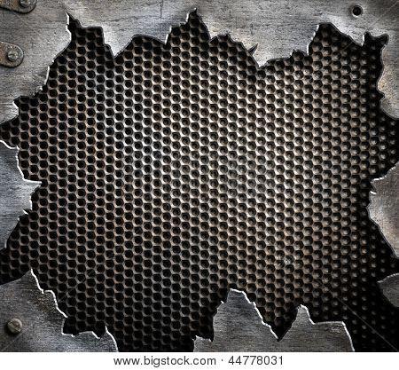Grunge Metal Background Poster   Metal Background, Grunge Textures,  Textured Background