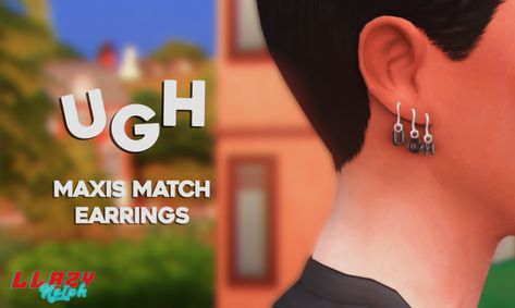ur new stepdad - ugh earrings! made these simple earrings a couple. Sims 4 Cc Packs, Sims 4 Mm Cc, Sims Four, My Sims, Maxis, Sims 4 Toddler, New Mods, Sims 4 Cc Furniture, The Sims 4 Download