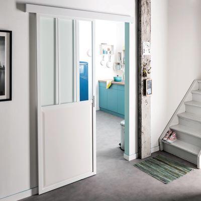Porta Da Interno Scorrevole Atelier Bianco 86 X H 215 Cm
