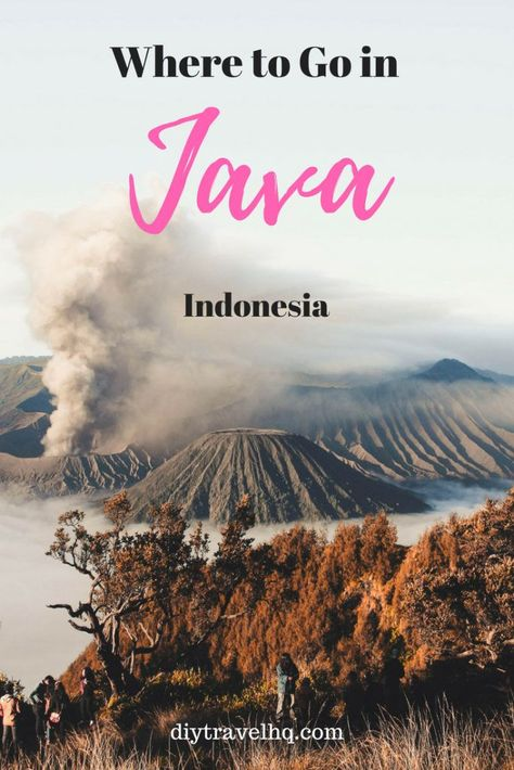 Java is home to magnificent volcanoes, temples & cities - find out how to experience the top 6 destinations in Java! #indonesia #java