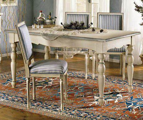 sala: tavolo con sedie | tavoli shabby | Shabby chic, Shabby ...
