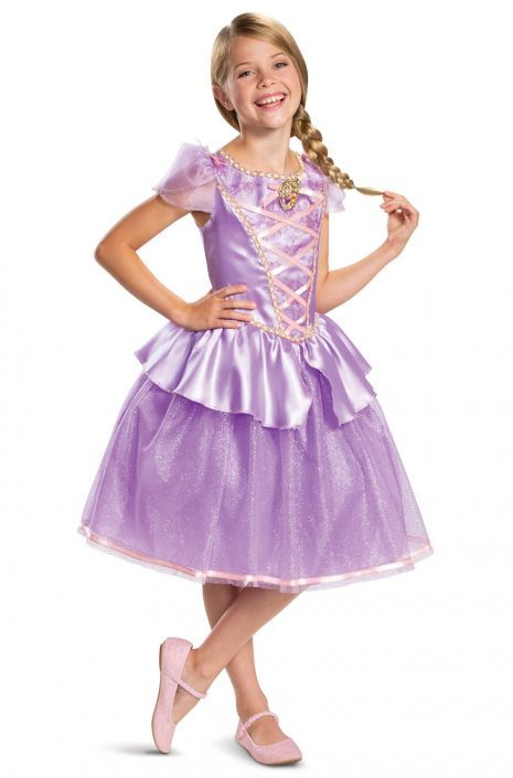 2019 Girls Rapunzel Fancy Dress Costume Fairy Outfit Disney Princess Dress-up