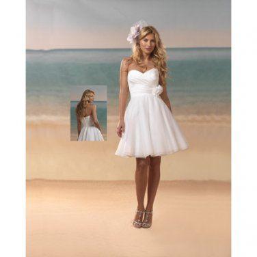 strapless sweetheart 2012 a-line short wedding dresses