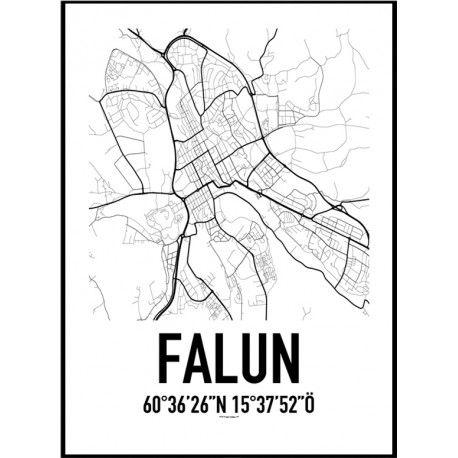 Falun Karta Poster Hitta Dina Posters Online Hos Hem Inredning