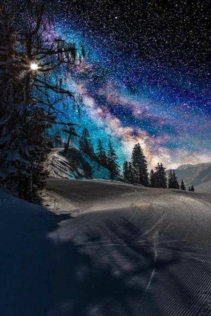 Perfect Beautiful Shot Night Landscape Nature Photography Nature