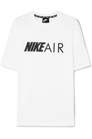 Nike Air Printed Cotton Jersey T Shirt Shirts Nike Shirts T