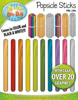Rainbow Popsicle Sticks Clipart Zip A Dee Doo Dah Designs Clip Art Math Clipart Calendar Activities