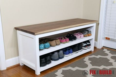 DIY Shoe Storage Bench for Entryway