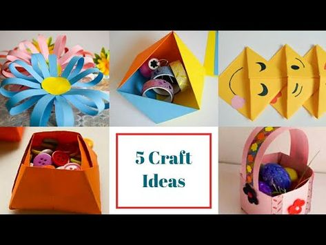 5 Easy Paper Crafts Ideas For Kids Back To School Crafts For Kids