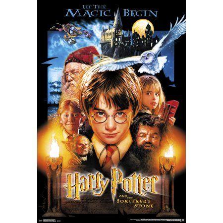 24x36 Harry Potter Sourcerer S Stone Walmart Com Harry Potter Movie Posters Harry Potter Movies Harry Potter Full