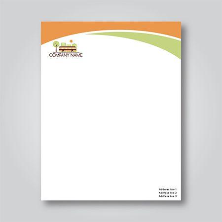 تصميم ترويسة Letterhead Design Diy Letterhead Letterhead