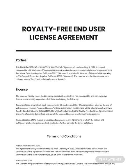 19 Free It And Software Agreement Templates Edit Download Template Net Agreement Templates End User
